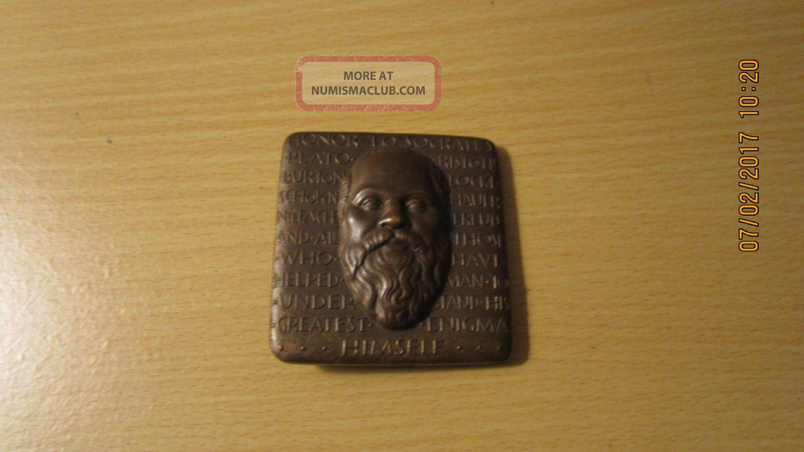 Medallic Art Co.  1964 Robert Weinman Honor To Socrates Bronze Medal Exonumia photo