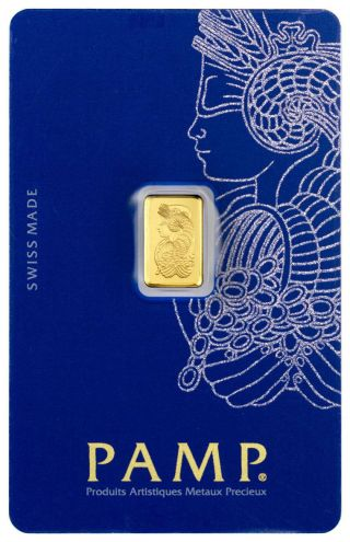 1 Gram Gold Bar Pamp Suisse Lady Fortuna (in Assay) Starts At 1c Gorgeous photo