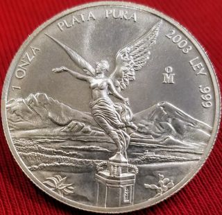 2003 Libertad Onza Mexico 1 Oz 999 Pure,  Hard To Find Year photo