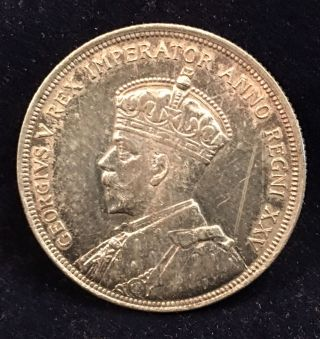 Canada 1935 Silver Dollar 23.  3g Silver Jubilee Cleaned photo