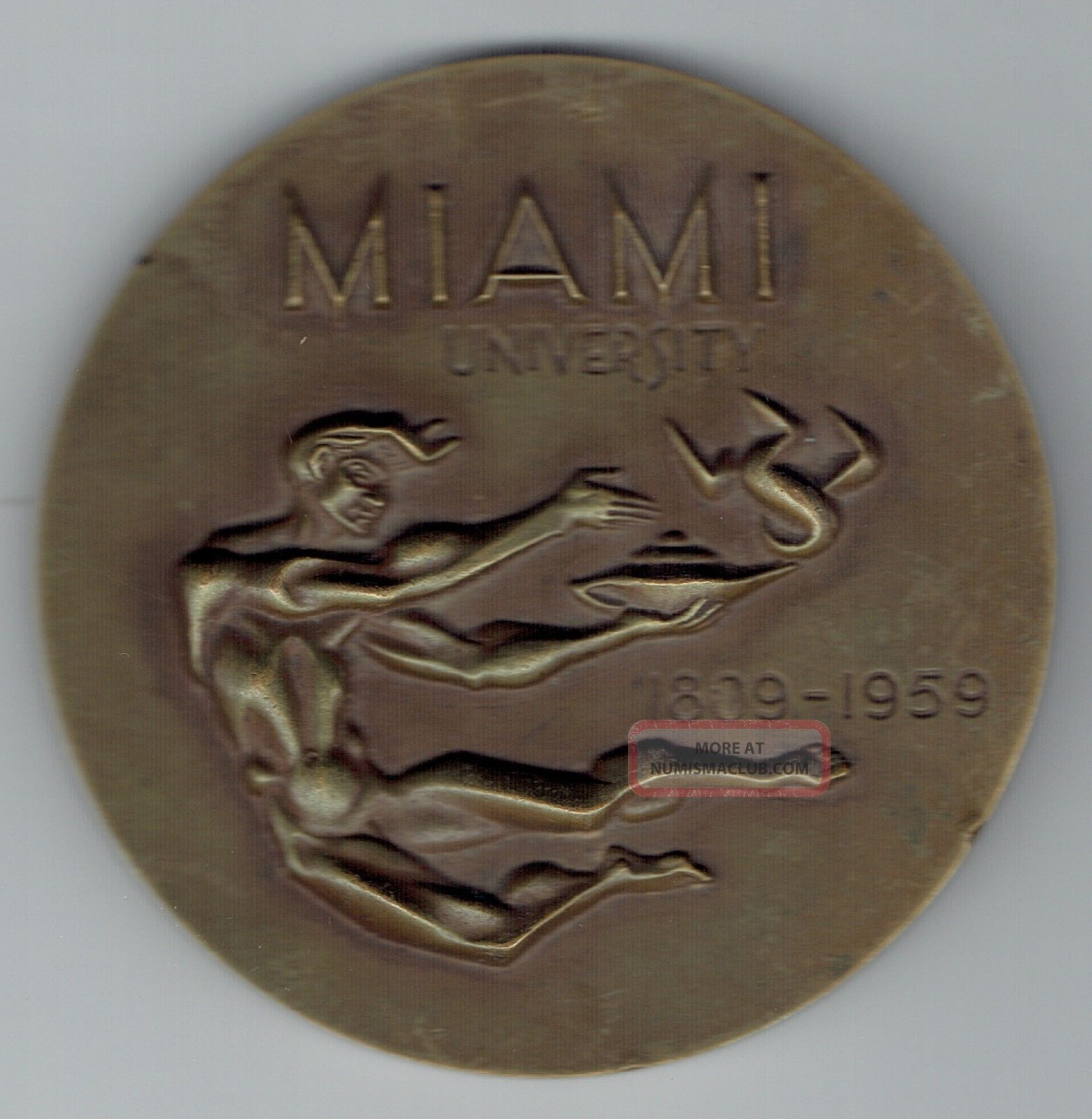 Miami University (ohio) Medal 1809 - 1959 Exonumia photo