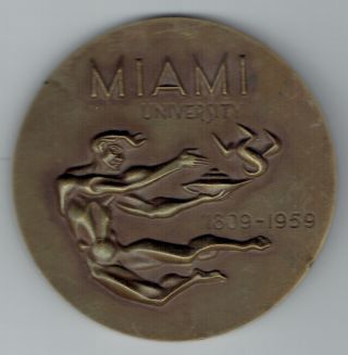 Miami University (ohio) Medal 1809 - 1959 photo