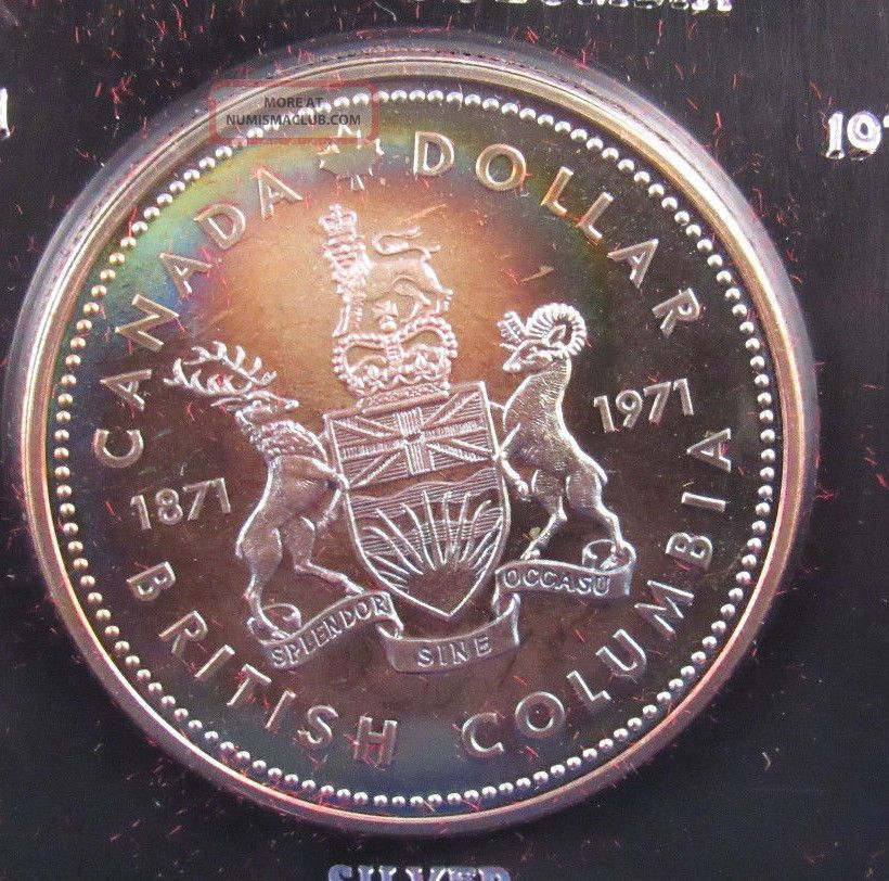 Canada 50 Silver Dollar 1871 - 1971 British Columbia - - In Coins: Canada photo