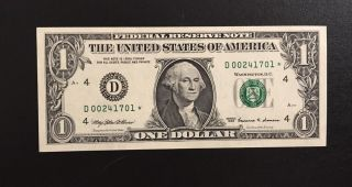 $1 1999 D Star ⭐️ Note Low First Run 320k Printing Sharp Looking  photo