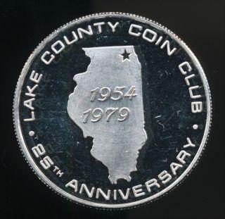 L.  C.  Coin Club 1 Troy Oz.  999 Fine Proof Silver Bulion Round photo