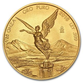 2016 Mexico 1/20 Oz Gold Libertad Bu photo