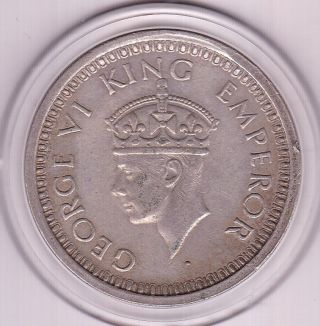1945 One Rupee India - British Silver Coin photo