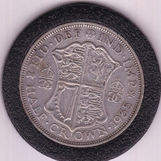 1935 King George V Half Crown (2/6d) - Silver (50) Coin photo