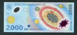 Romania 1,  000 1000 Lei 1999 P - 111 Unc Polymer Commemorative Uncirculated Note photo