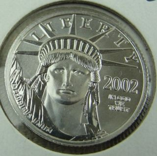 2002 $25 1/4 Oz.  American Platinum Eagle.  9995 photo