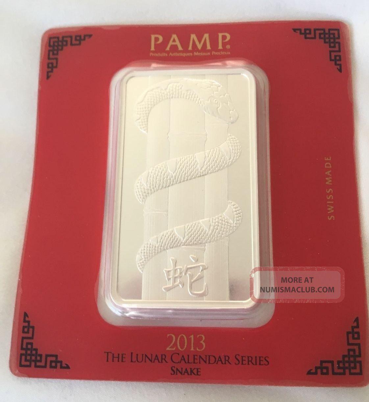 Pamp Suisse Lunar Calendar Series 2013 Snake 100 Gram