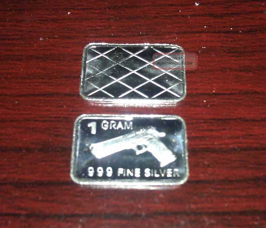 X5 Silver 1 Gram 999 Fine Hand Gun Limited Run 2nd