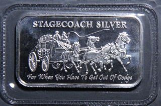 Stagecoach Fractional 4 X 1/4 Bar Nwt Fine Silver.  999 1.  0 T.  O.  B668 photo