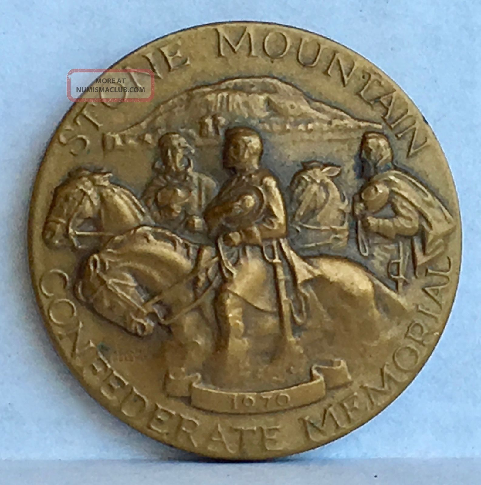 1970 Commemorative Medal Stone Mountain Confederate Memorial Medallic Art Bronze Exonumia photo