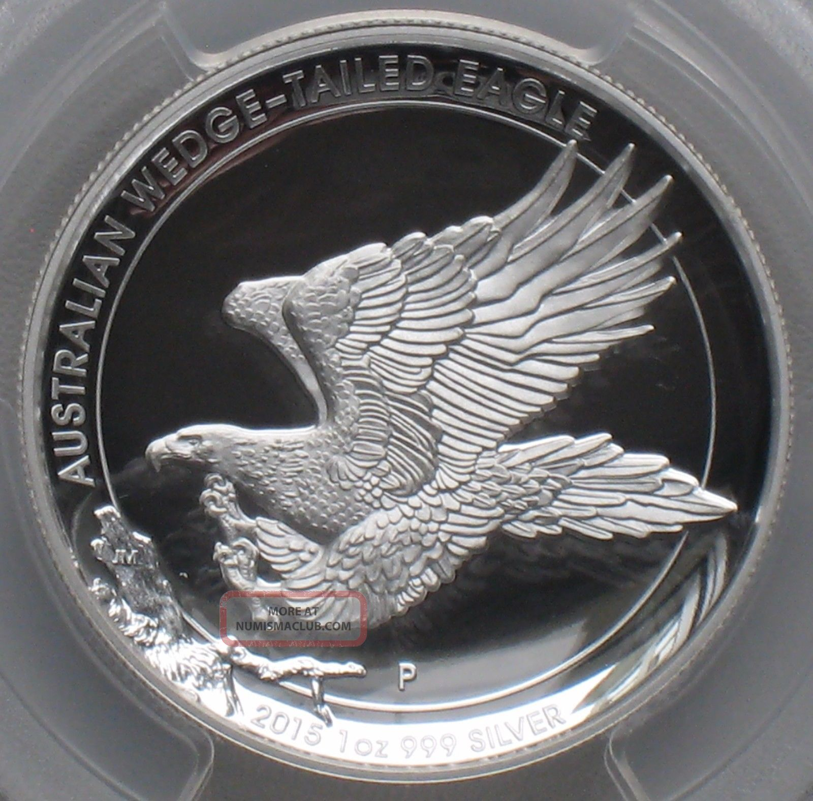 2015 Aus Wedge Tailed Eagle 1 Oz 999 Ag Hi Relief
