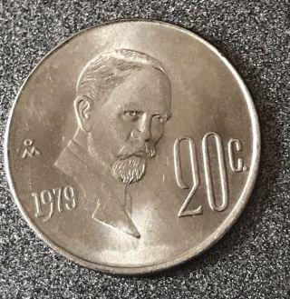 Mexico 20 Centavos,  1979 - 20c Mexican Coin photo
