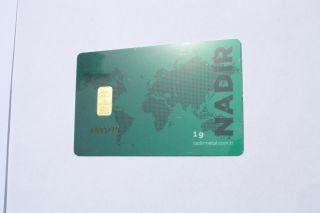 1 Gram Nadir 24k 999.  9 Gold Bar photo