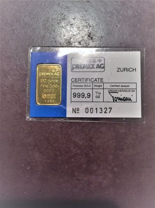 1/10th Troy Ounce Swiss Gold Bar photo