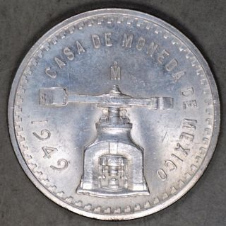 Mexico 1949 1 Onza Silver Coin photo
