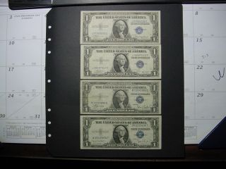 1935abcd $1 Blue Seal Silver Certificates photo