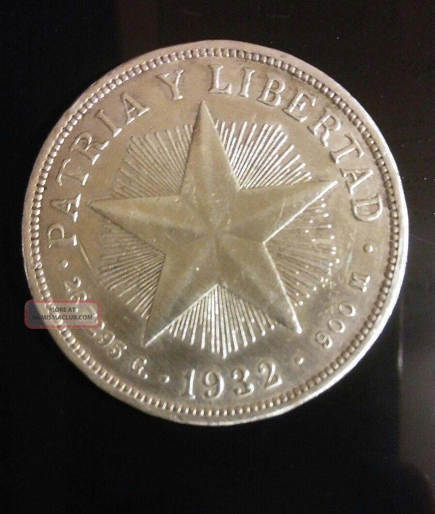 1932 Star Peso Silver (low Relief Star) Coins: World photo