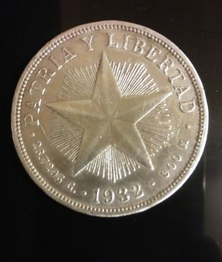 1932 Star Peso Silver (low Relief Star) photo