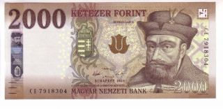 Hungary 2000 Forint (2016/2017) Issue Unc photo