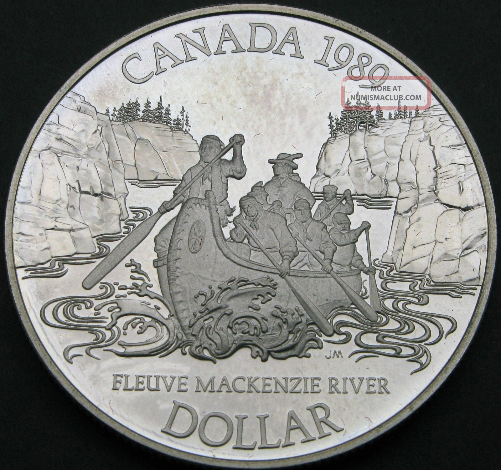 Canada 1 Dollar 1989 Proof - Silver - Mackenzie River - 3423 猫 Fifty Cents photo