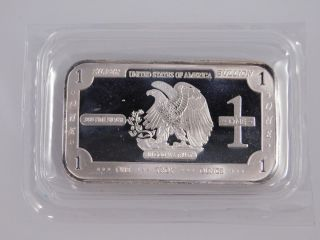 American Eagle Bullion Usa 1 Troy Oz Silver Bar.  999 Pure photo