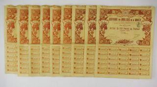 France 1903 - Cie Des Houillères De La Corrèze - 6 Parts Bénéficiaire & 3 Actions photo