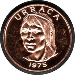 Proof Panama 1975 UraccÁ One Centesimo Coin (km 33.  1) photo