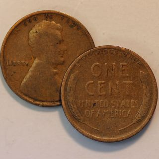 1928 - S Lincoln Wheat Cent Penny 1c - Good / Gd (sp) photo