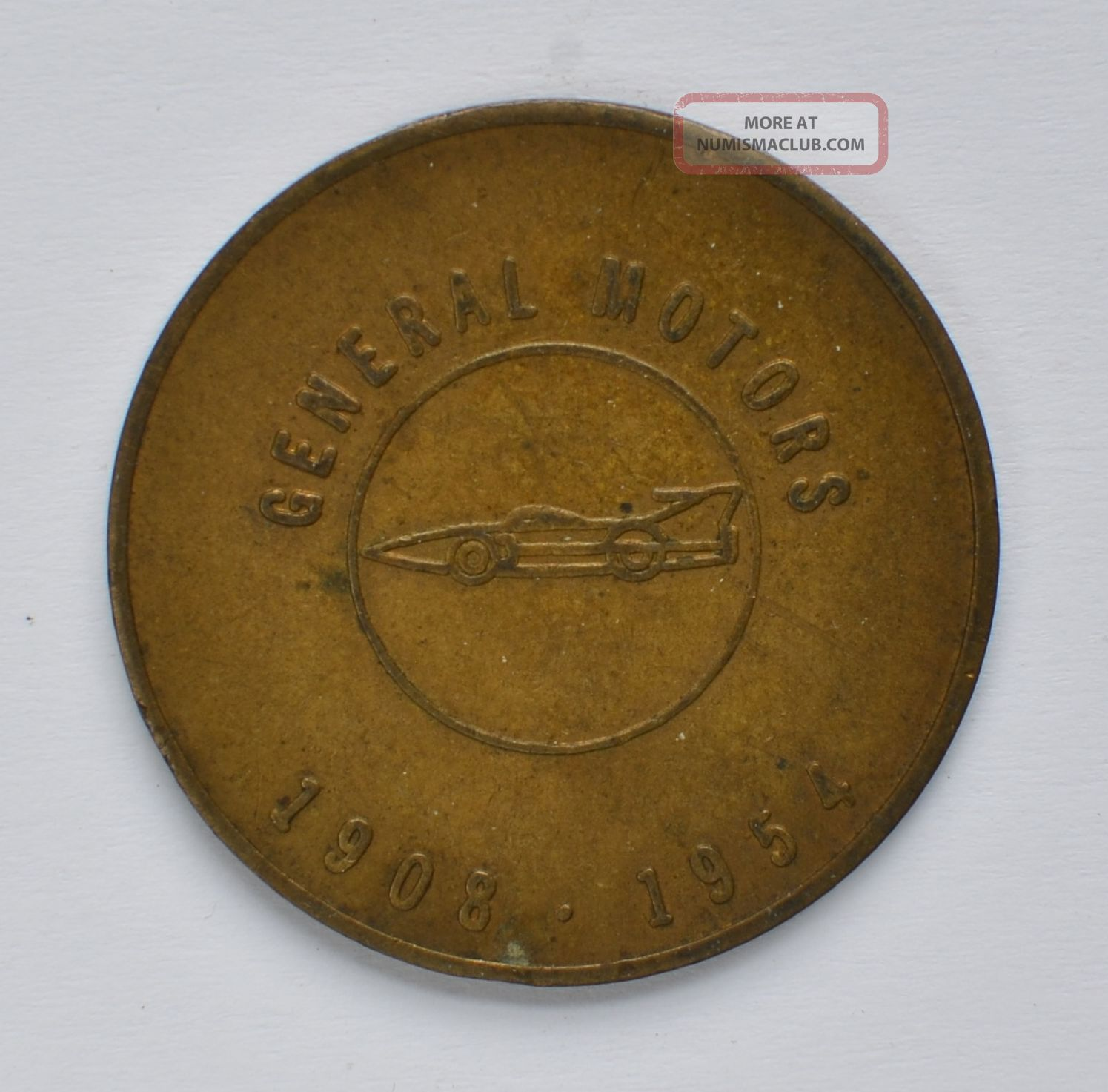 General Motors 1908 - 1954 Builds Its First 50 Million Cars Token Exonumia photo