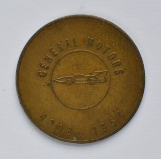 General Motors 1908 - 1954 Builds Its First 50 Million Cars Token photo