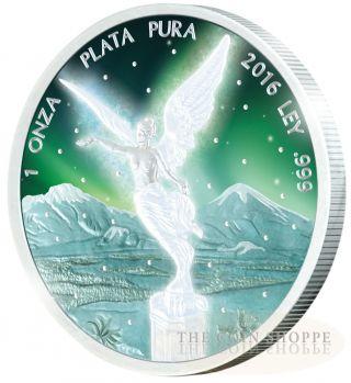 Frozen Libertad - 2016 1 Oz Pure Silver Coin - Rhodium Plating & Special Color photo