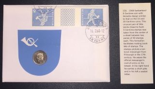 Coin Swiss 5 Centime Helvetia Coin 5 Centime Postage Stamps (tete - Beche) photo
