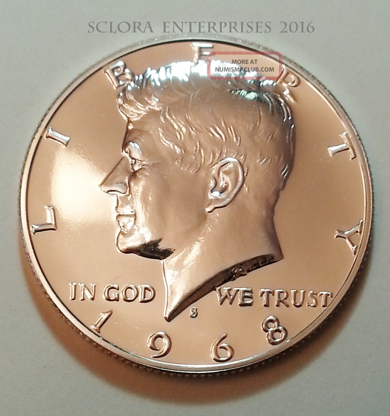 1968 S Kennedy Uncirculated Proof Half Dollar 40 Silver Kennedy (1964-Now) photo