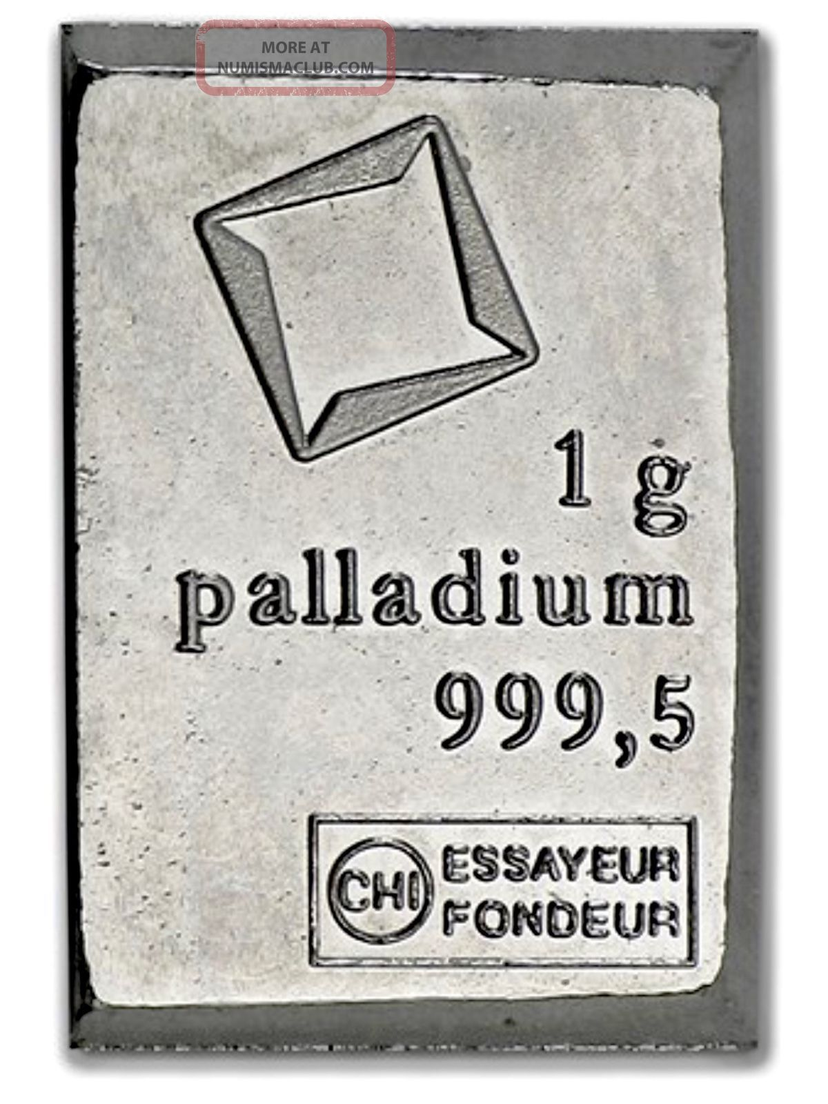 Palladium 1 Gram Valcambi Suisse Combibar Bar Palladium photo