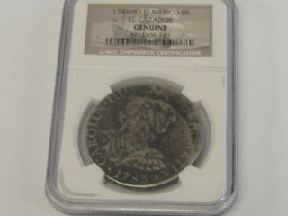 1783 Mo Ff Mexico 8 Reales El Cazador 8r Shipwreck Coin,  Ngc Certified photo
