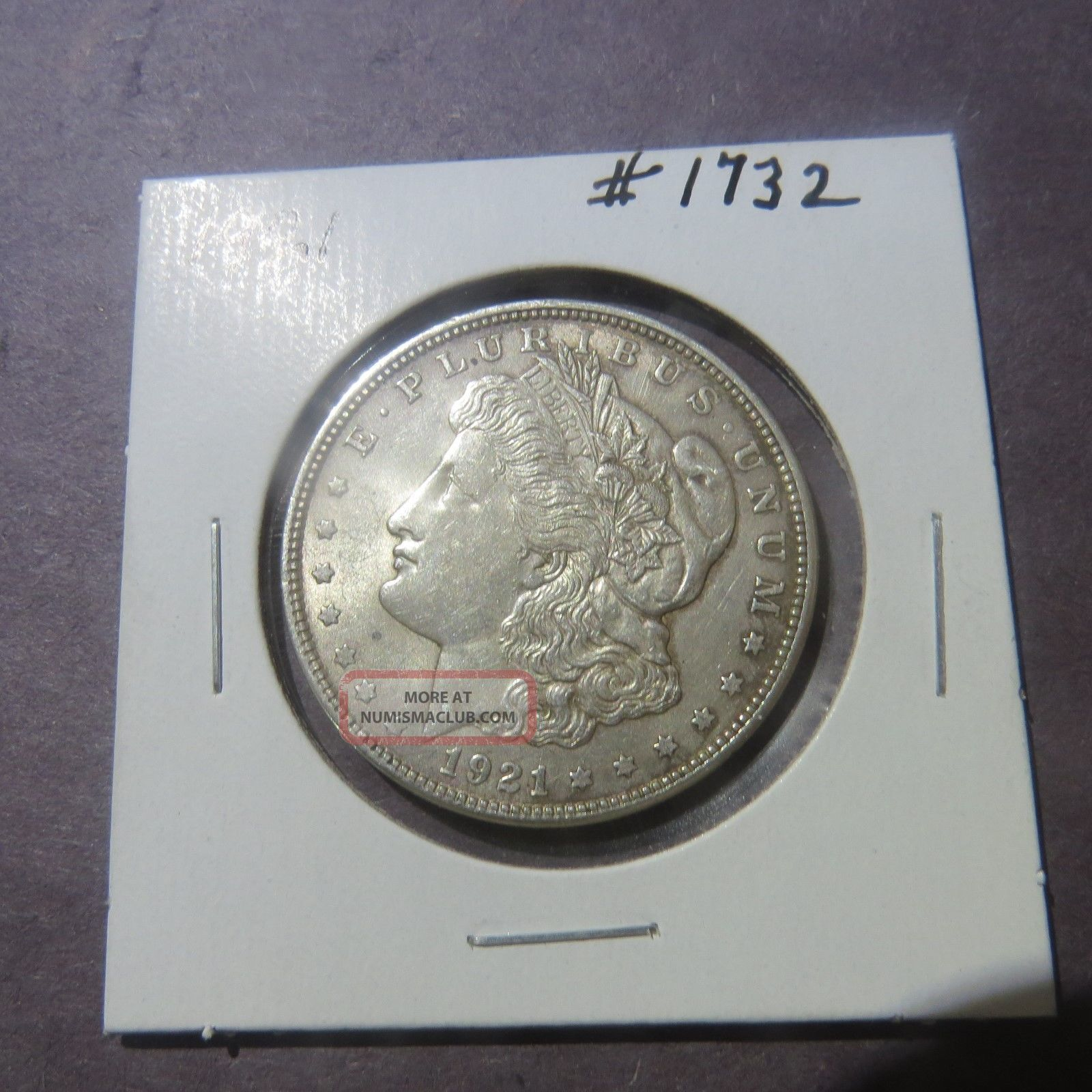 1921 $1 Morgan Silver Dollar 1732 Morgan (1878-1921) photo