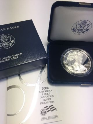 2008 American Eagle Bullion Silver Dollar 1oz.  Proof photo