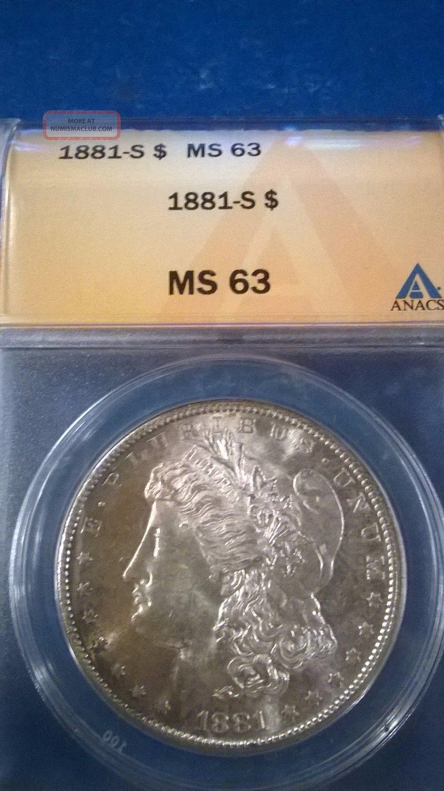 1881 - S $1 Morgan Silver Dollar,  Ms 63 Morgan (1878-1921) photo