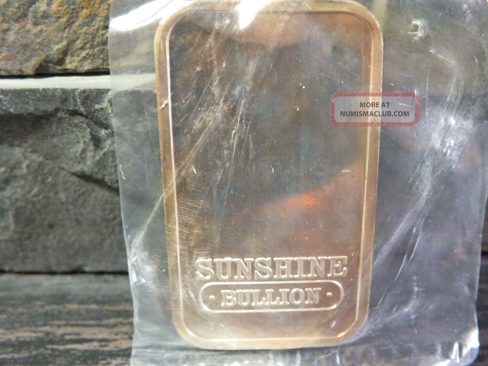 1 Oz 999 Silver Bar 1989 Sunshine Sunshine Mining