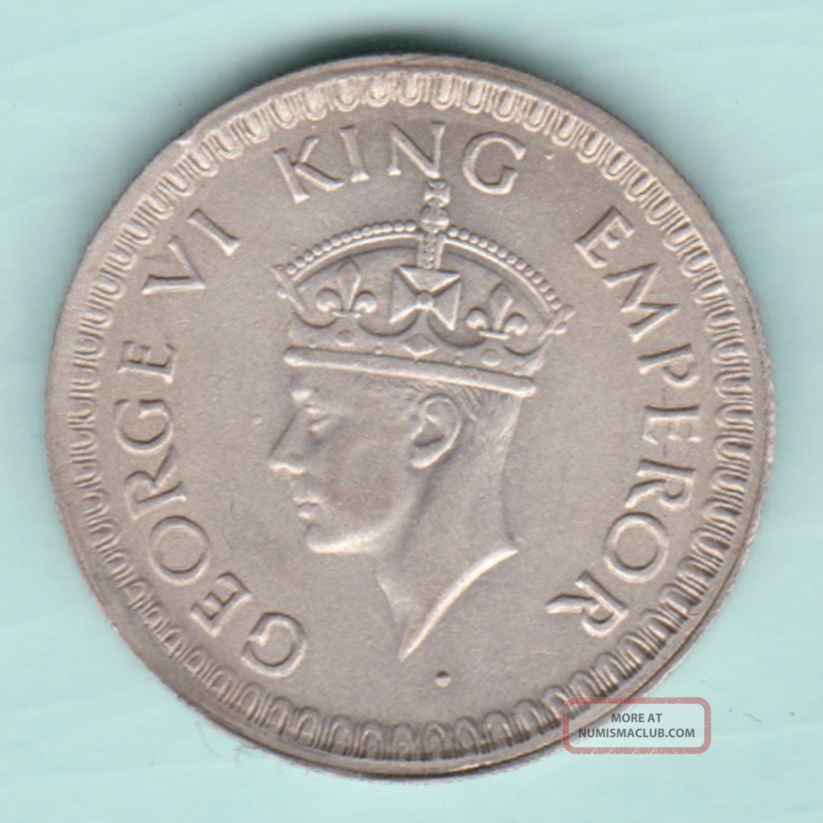 British India - 1944 - King George Vi Emperor - Half Rupee - Bombay - Rare British photo