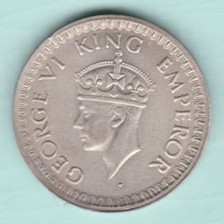British India - 1944 - King George Vi Emperor - Half Rupee - Bombay - Rare photo