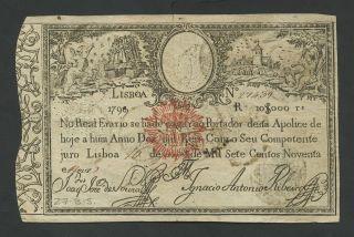 Portugal - 10$000 1799/1828 P40 Vf (world Paper Money) photo