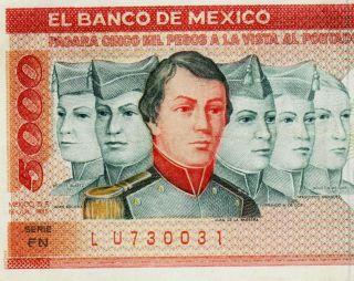 Mexico 1985 $5000 Pesos Cadetes Serie Fn (lu730031) photo