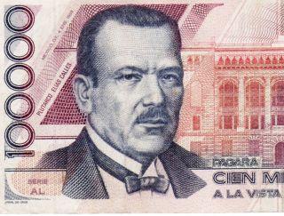 Mexico 1988 $100000 Pesos Elias Calles Serie Al (dm808112) Very photo
