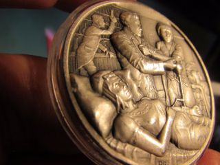 Rare 55 Gr.  999 Silver High Relief Medallic Art Co,  History Of Surgery,  700 Only photo