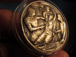 Medallic Art Co History Of Surgery High Relief 53 Gr.  999 Silver Rarity 700 Only photo